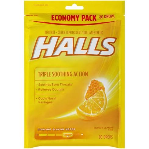 Halls Cough Drops - Honey Lemon - 80ct : Target