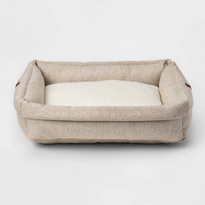 Rectangular Roll Cuff Dog Beds - M - Boots & Barkley™