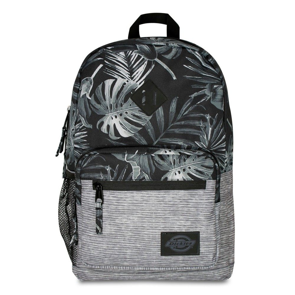 "Image of ""Dickies 17.5"""" Study Hall Backpack - Dark Tropical, Black"""