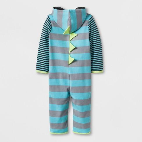 4b814cc4c57 Baby Boys  Stripe Dino Romper - Cloud Island™ Turquoise 3-6M   Target