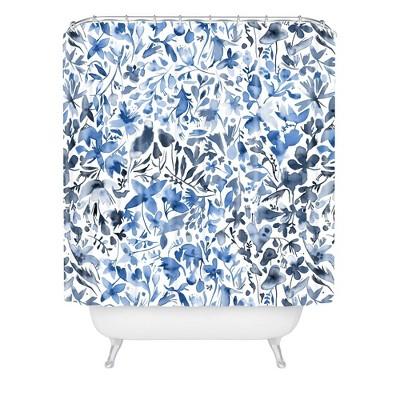 Ninola Design Flowers and Plants Ivy Shower Curtain Blue - Deny Designs