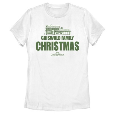 Women's National Lampoon's Christmas Vacation Griswold Family Decorations T-Shirt