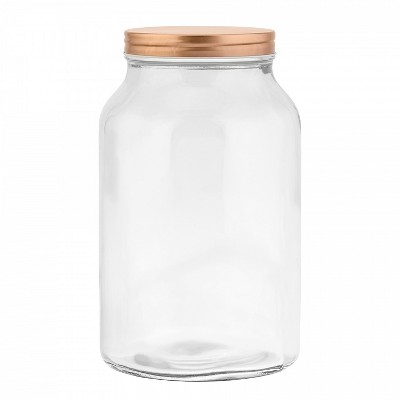 Amici Home Branson Glass Canister, Large, 132oz