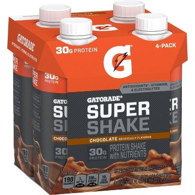 Gatorade Ready-to-Drink Super Shake - Chocolate - 4pk