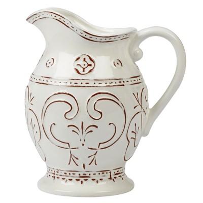 Certified International Terra Nova Ceramic Pitcher 2.3L - White/Brown