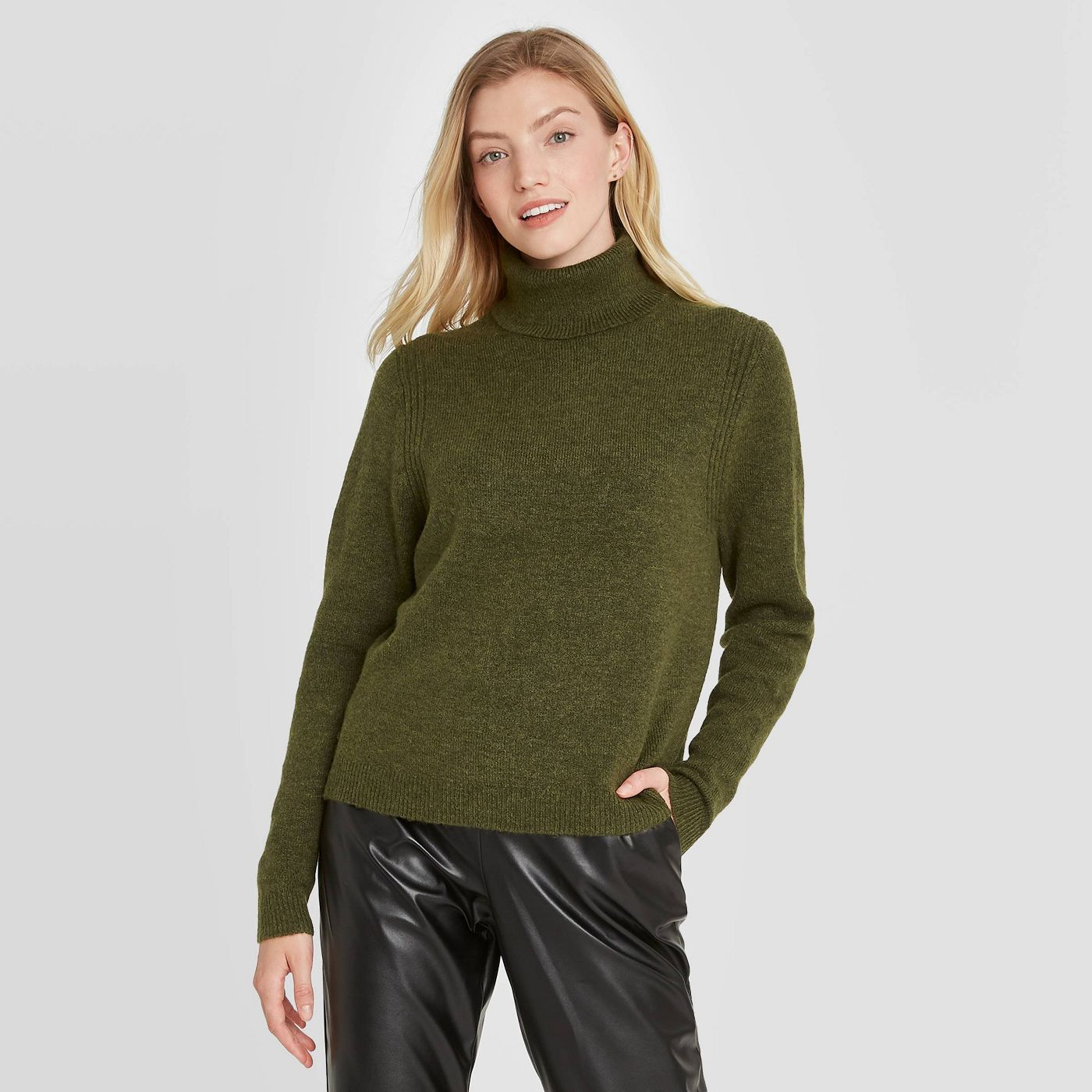 Women's Turtleneck Pullover Sweater - A New Day™ - image 1 of 11