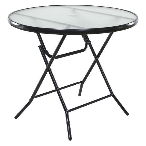 Basics Round Folding Patio Table Clear