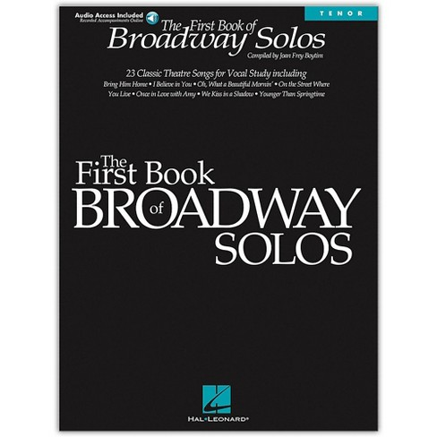 Hal Leonard First Book Of Broadway Solos for Tenor Voice (Book/Online Audio) - image 1 of 1