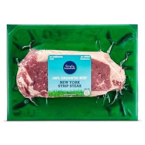 Grass Fed NY Strip - price per lb - Simply Balanced™ - image 1 of 1