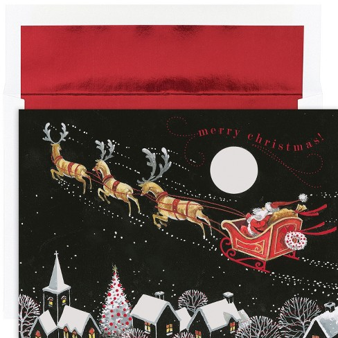 16ct Hortense B. Hewitt Santa's Whimsical Sleigh Boxed Card Set - image 1 of 1