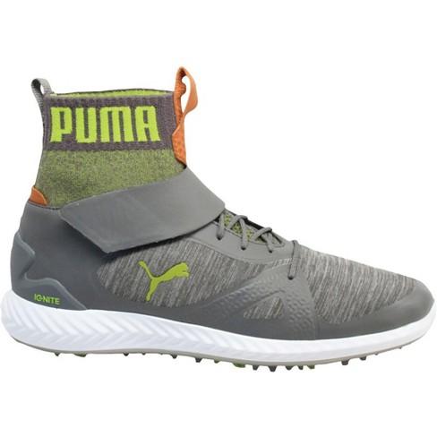 Men S Puma Ignite Pwradapt Golf Shoes Quiet Shade Acid Lime Target
