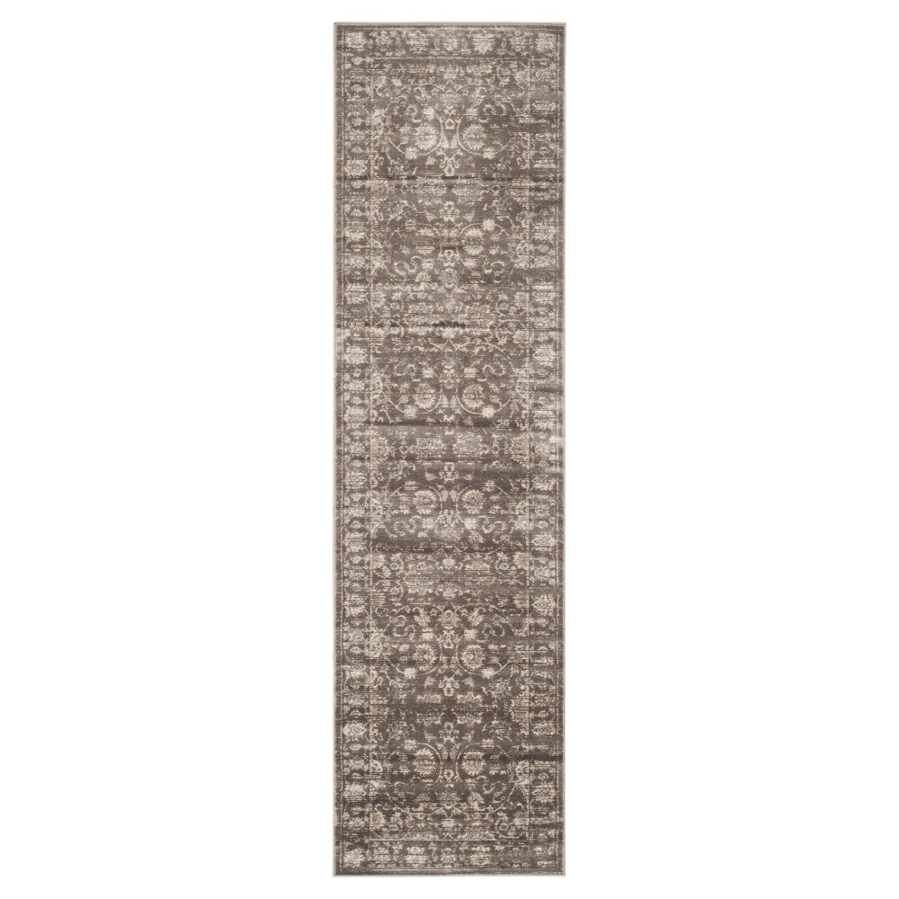 Cherine Vintage Inspired Rug - Brown/Ivory (2'2 X 8') - Safavieh