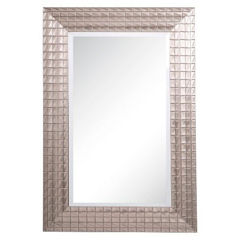 Rectangle Decorative Wall Mirror with Silver Patina Tones - Yosemite Home Decor - image 1 of 3