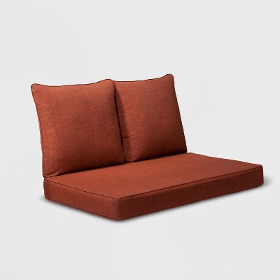 Madaga 3pc Outdoor Loveseat Replacement Cushion Set Red - Grand Basket