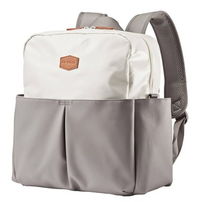 JJ Cole Popperton Boxy Backpack Diaper Bag - Mushroom