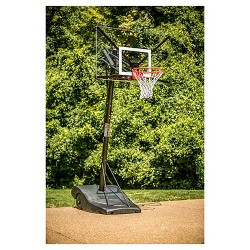 "Silverback Portable 54"" Acrylic Basketball Hoop System"