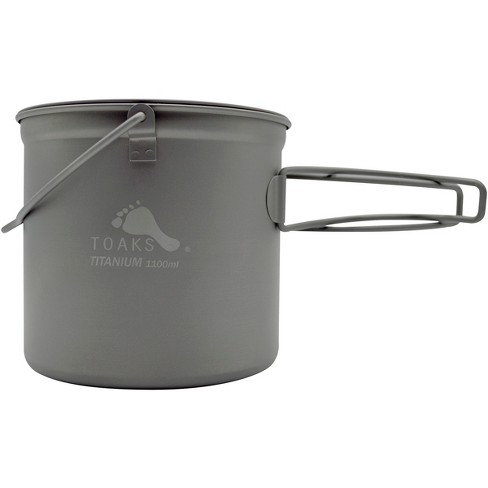 TOAKS 1100ml Titanium Camping Cooking Pot with Bail Handle and Lockable Lid - image 1 of 3