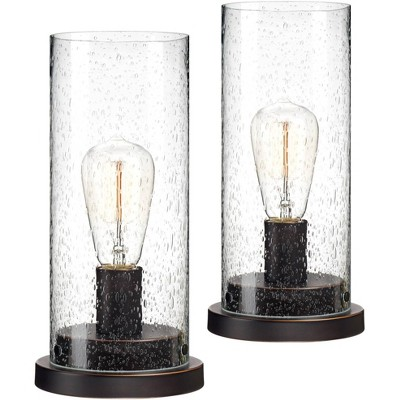 360 Lighting Libby Seeded Glass Edison Accent Lamp Set of 2