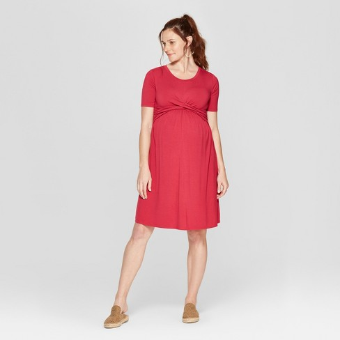 Maternity Twist Knit Dress - Isabel Maternity by Ingrid & Isabel™ - image 1 of 2