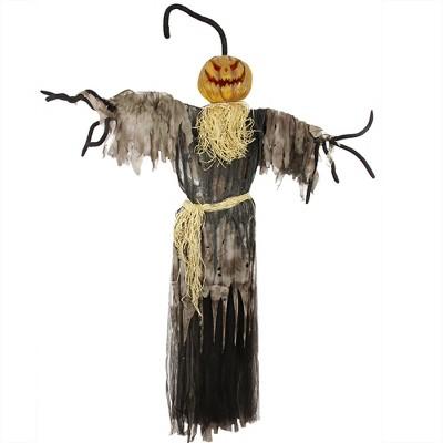 Northlight 5.5' Prelit LED Jack-O'-Lantern Ghost Indoor Halloween Decoration - Orange/Black