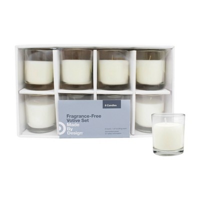 """2.3"""" x 2"""" 8pk Unscented Votive Candle Set - Made By Design™"""