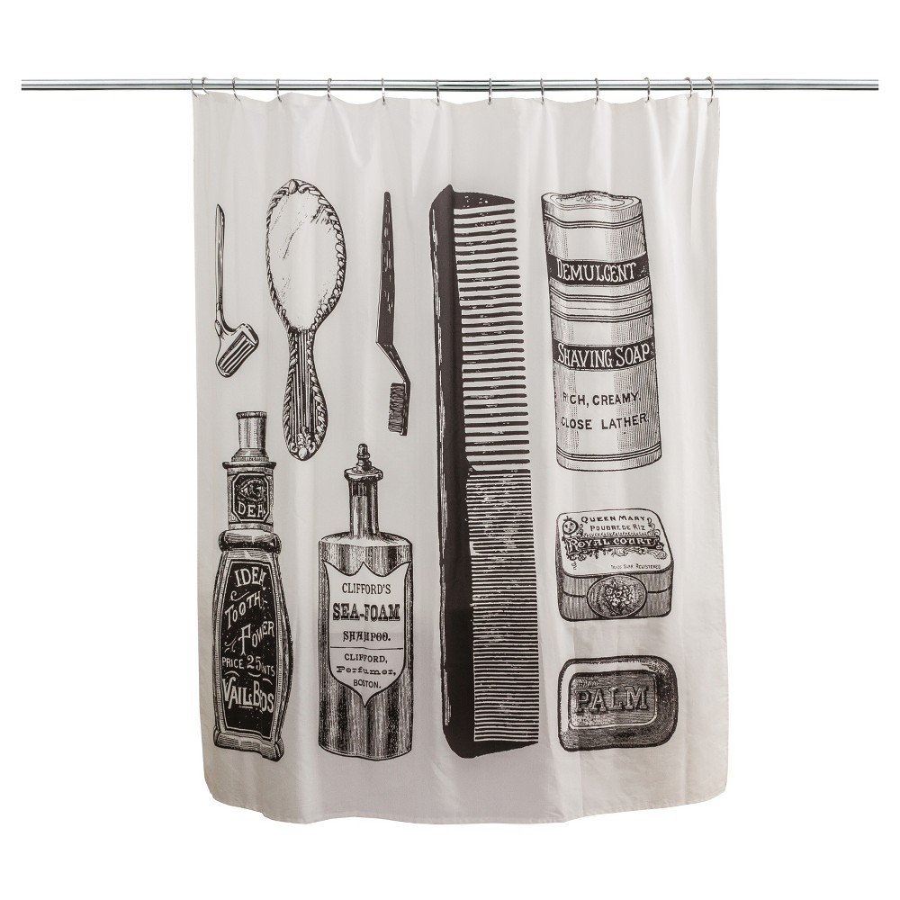 Grooming Tools Shower Curtain Neutral - Splash Home