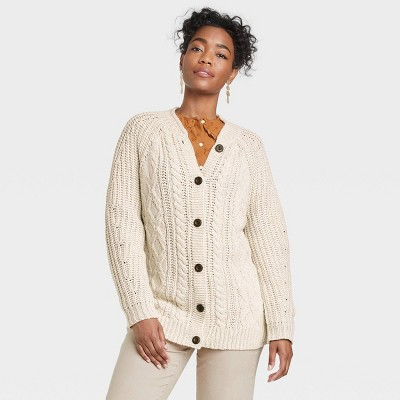Women's Oversized Button-Front Grandpa Cardigan - Universal Thread™