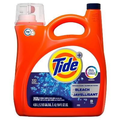 Tide with Bleach Alternative Original Scent Liquid Laundry Detergent - 154 fl oz