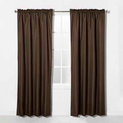 """84""""x42"""" Braxton Blackout Window Curtain Panel Espresso Brown - Eclipse"""