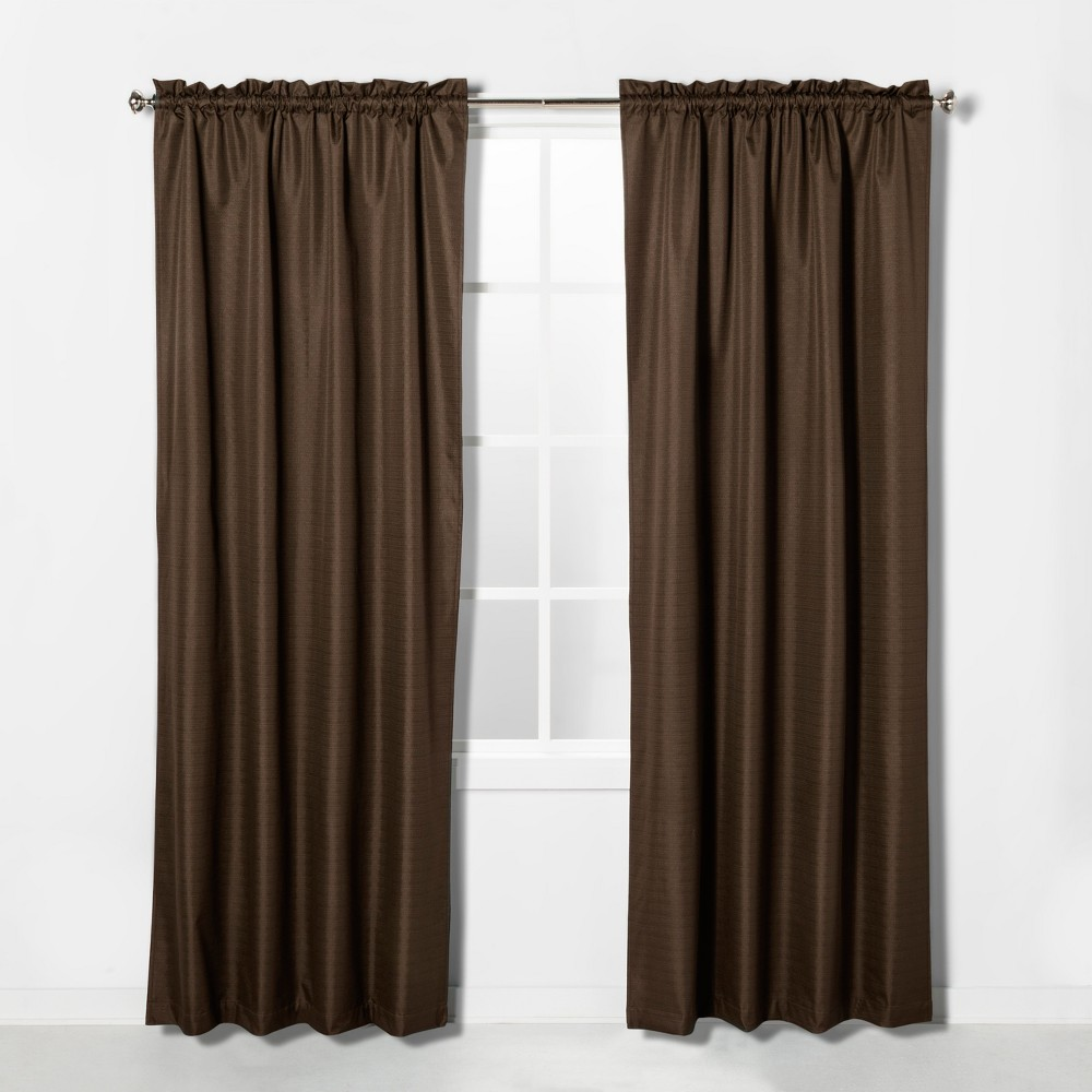 "Image of ""42""""x63"""" Braxton Blackout Window Curtain Panel Espresso Brown - Eclipse"""