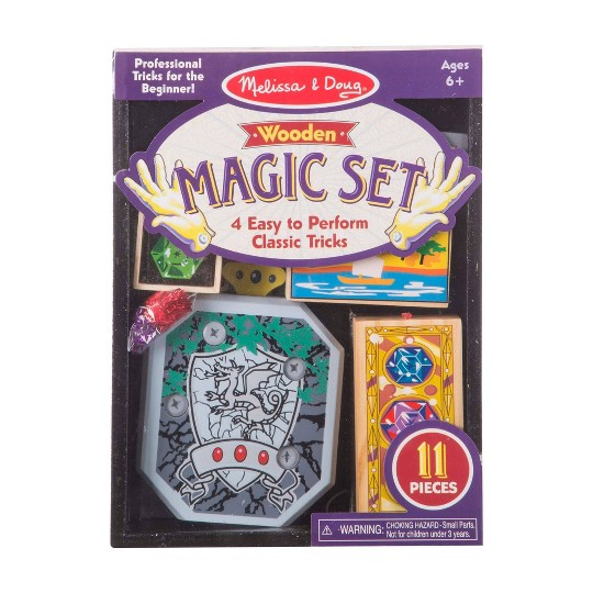Melissa & Doug Discovery Magic Set With 4 Classic Tricks, Solid-Wood Construction image number null