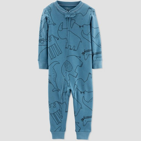 Little Planet Organic by Carters Toddler Boys' Animals One Piece Pajama - Teal - image 1 of 1