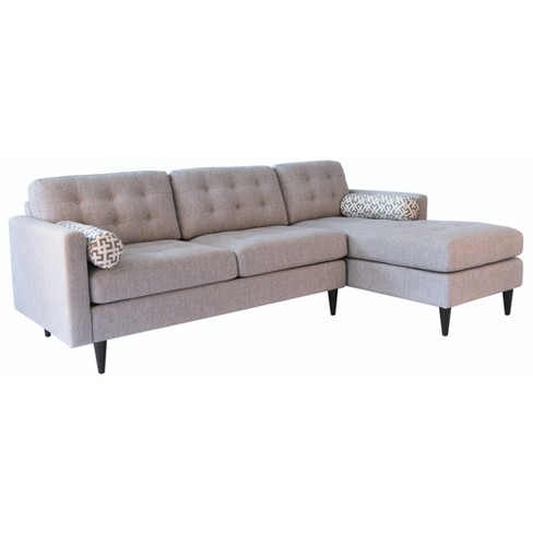 Alessandro Mid Century Tufted Sectional - Grey - Abbyson - image 1 of 7