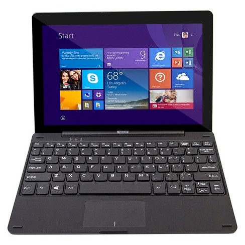 "Efun Nextbook 10.1"" Quad Core Windows Tablet with keyboard - Black (EFMW101T) - image 1 of 5"