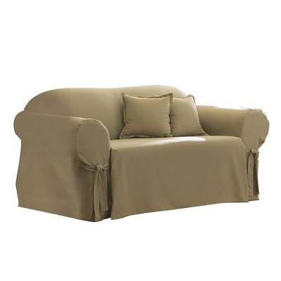Cotton Duck Sofa Slipcover Linen - Sure Fit