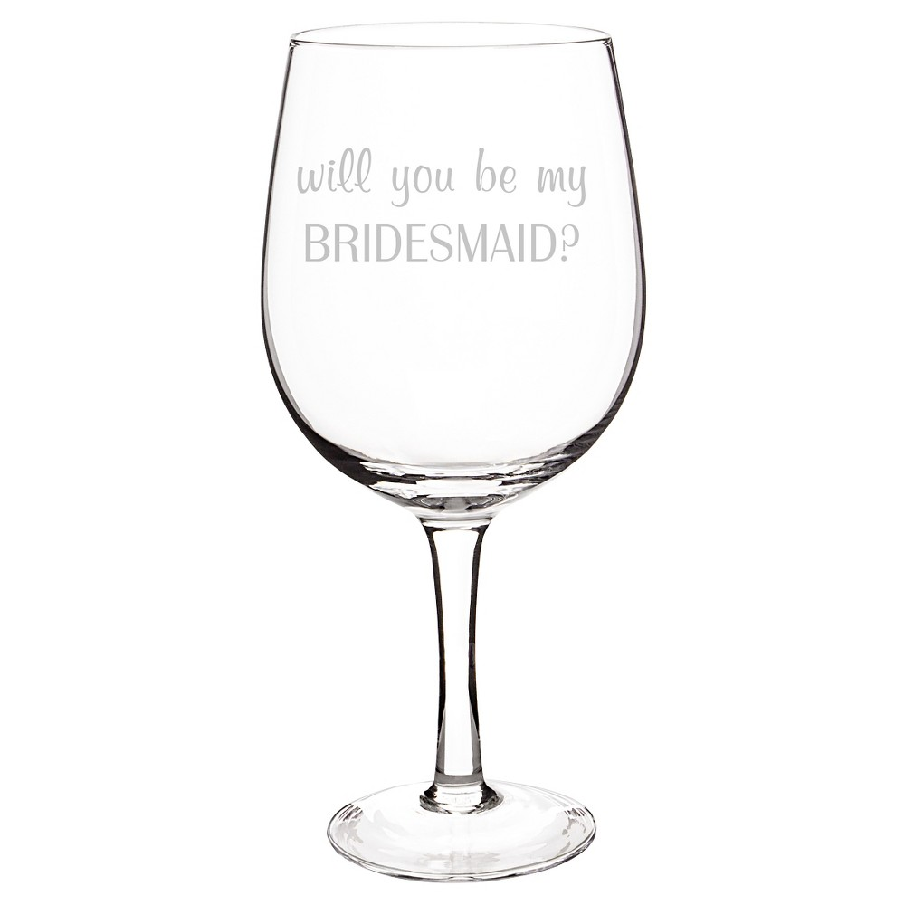 Bridesmaid Wine Glass Clear XL