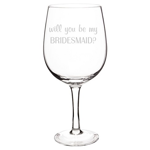 bridesmaid wine glass clear xl target