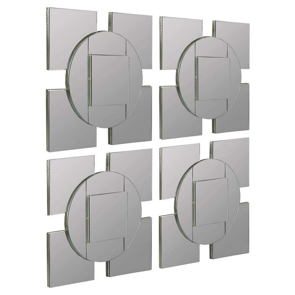 Image of Square Tupan Mirror Set- Gray - Cooper Classics
