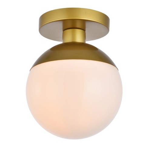 """Elegant Lighting LD6054 Eclipse Single Light 8"""" Wide Semi-Flush Globe Ceiling Fixture with Frosted Glass - image 1 of 4"""