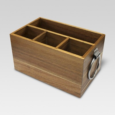 Acacia Rectangle Silverware Caddy - Threshold™