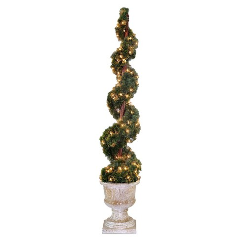 "Upright Juniper Spiral Tree with Decorative Urn with 150 Clear Lights (60"") - image 1 of 1"