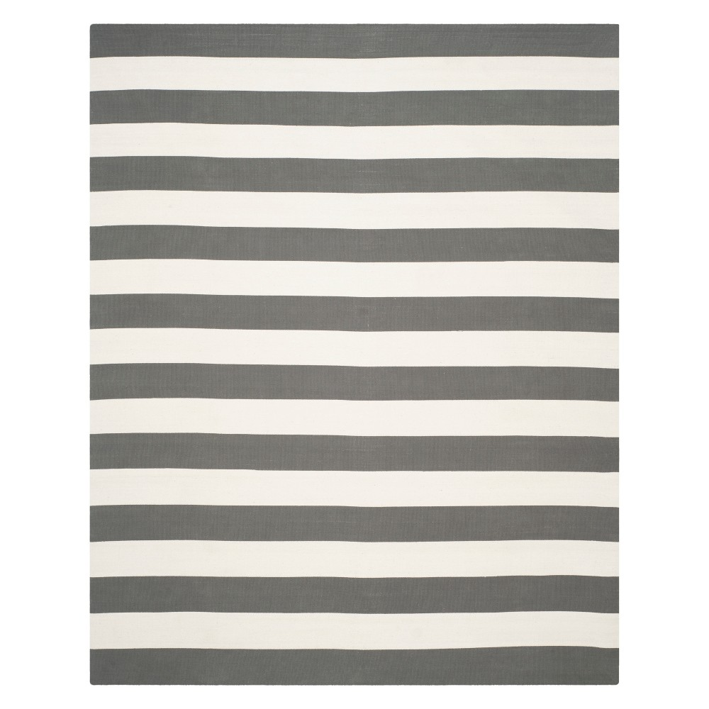 10'X14' Stripe Woven Area Rug Gray/Ivory - Safavieh