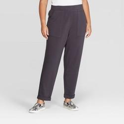 Women's Plus Size Knit Jogger Pants - Ava & Viv™