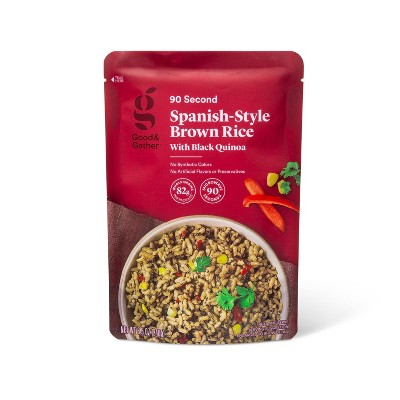 90 Second Spanish-Style Brown Rice with Black Quinoa Microwavable Pouch - 8.5oz - Good & Gather™