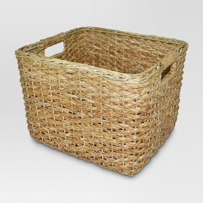 Seagrass Rectangular Wicker Basket - Large - Threshold™