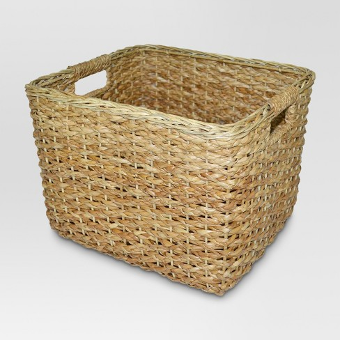 Seagrass Rectangular Wicker Basket - Large - Threshold™ - image 1 of 5