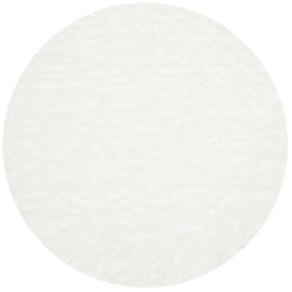 6 Solid Round Area Rug Ivory - Safavieh Coupons