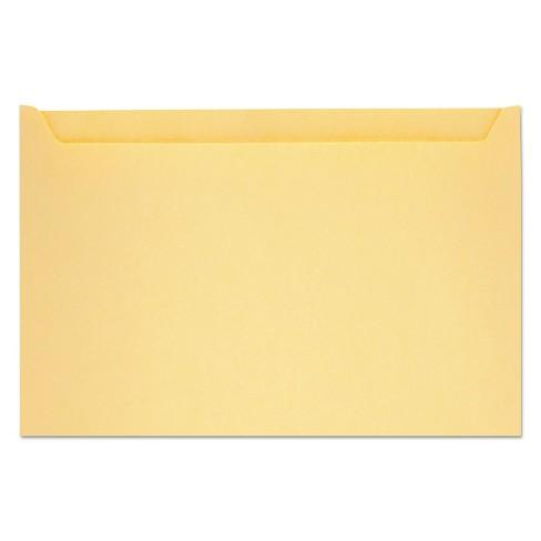 "Quality Park Paper File Jackets 5"" x 8 1/8"" 28 lb Manila Buff 500/Box 63872 - image 1 of 1"