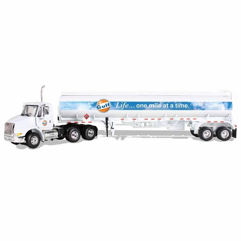 """International 8600 """"GULF"""" with 42' Fuel Tank Trailer 1/64 Diecast Model by First Gear - image 1 of 1"""