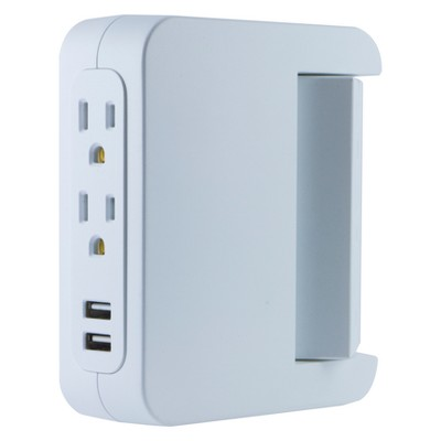 GE Pro 5-Outlet Swivel Access Charging Station with USB, 39429